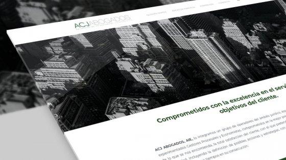 mockup del diseño web acjabogados