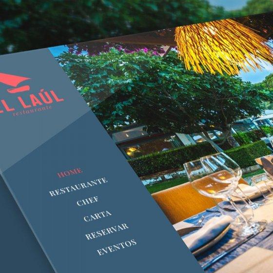 mockup del diseño web El laul