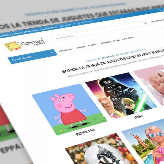 mockup del diseño web carruseljuguetes