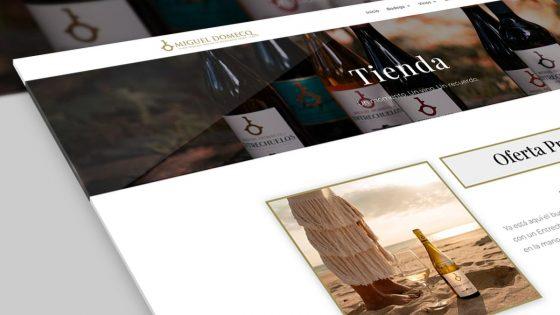 mockup del diseño web de miguel domecq