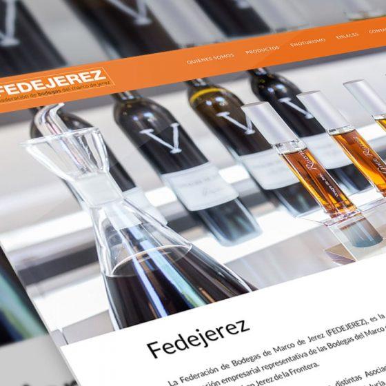 mockup del diseño web para fedejerez