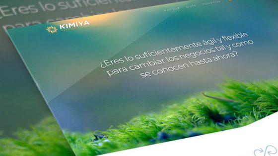 mockup del diseño web para kimiya tactics