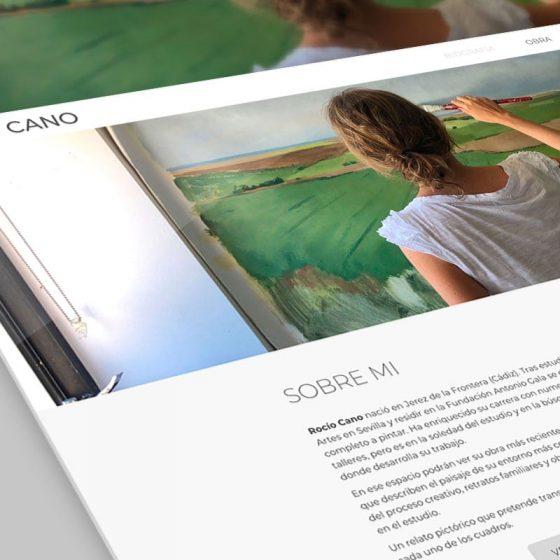 mockup del diseño web de rocio cano