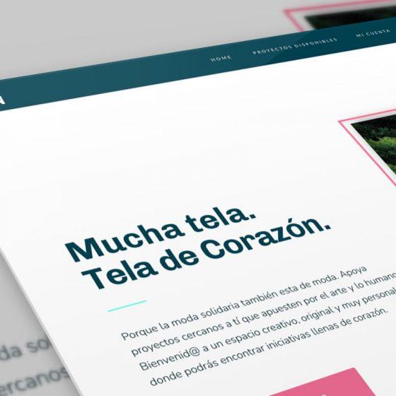 mockup del diseño web teladecorazon