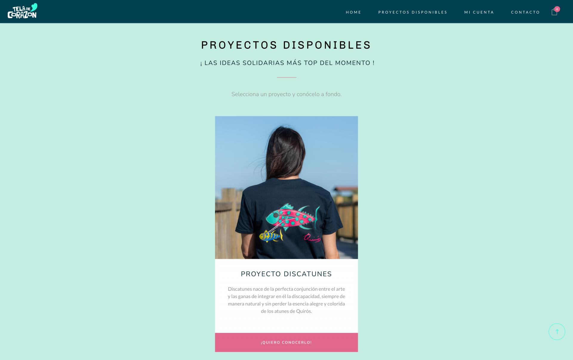 proyecto de página web desarrollada para teladecorazon